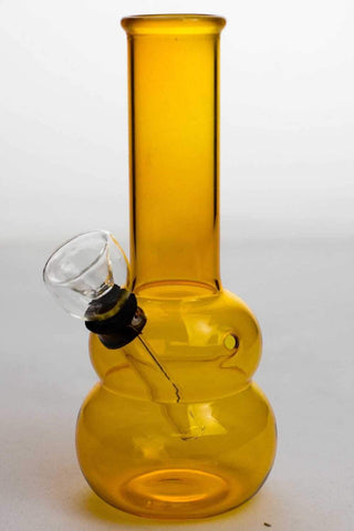 "6"" yellow glass water bong"