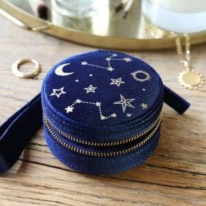 Starry nights mini velvet travel case