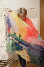 Abstract colour scarf