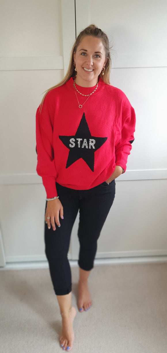 The sequin star jumper
