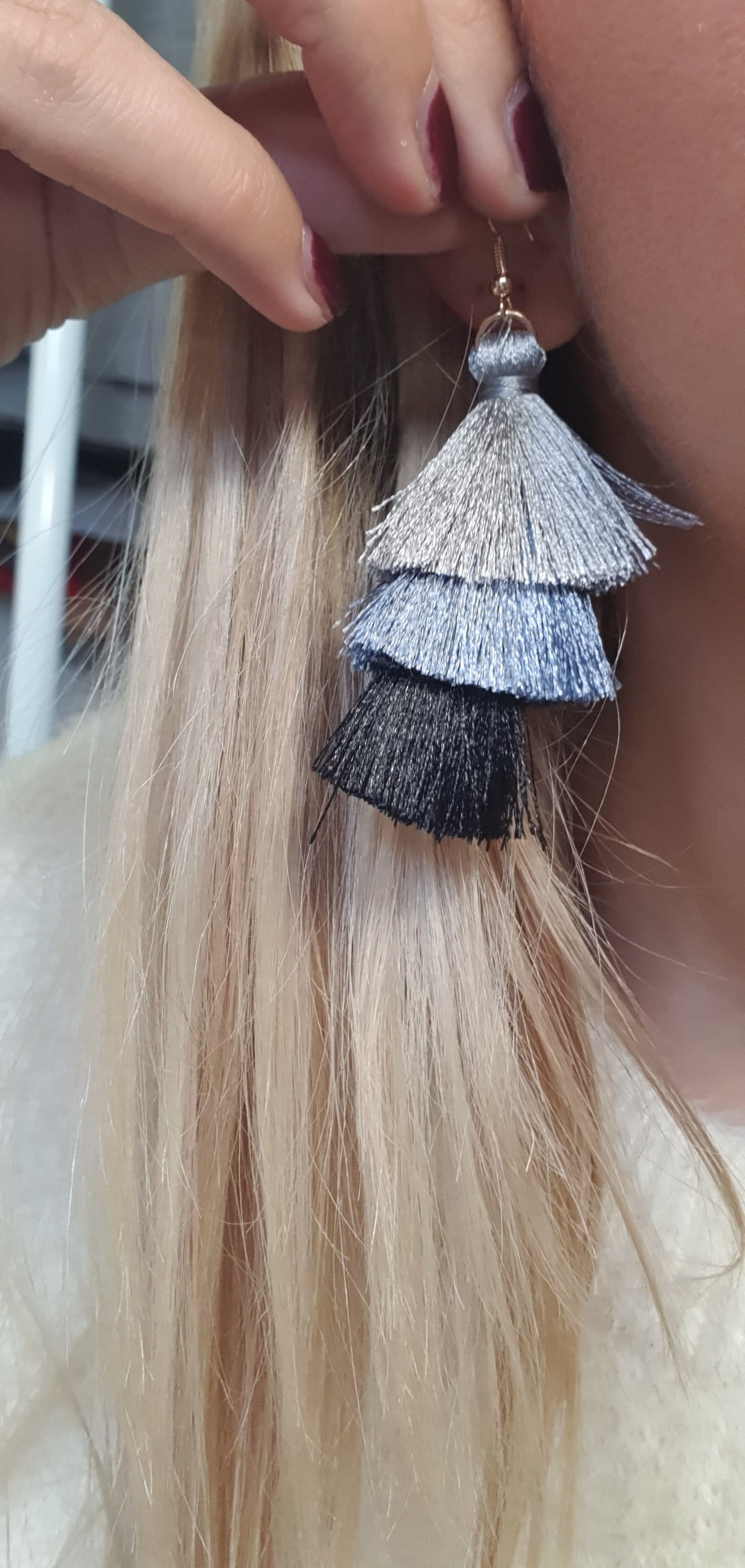The Tierd tassel earrings