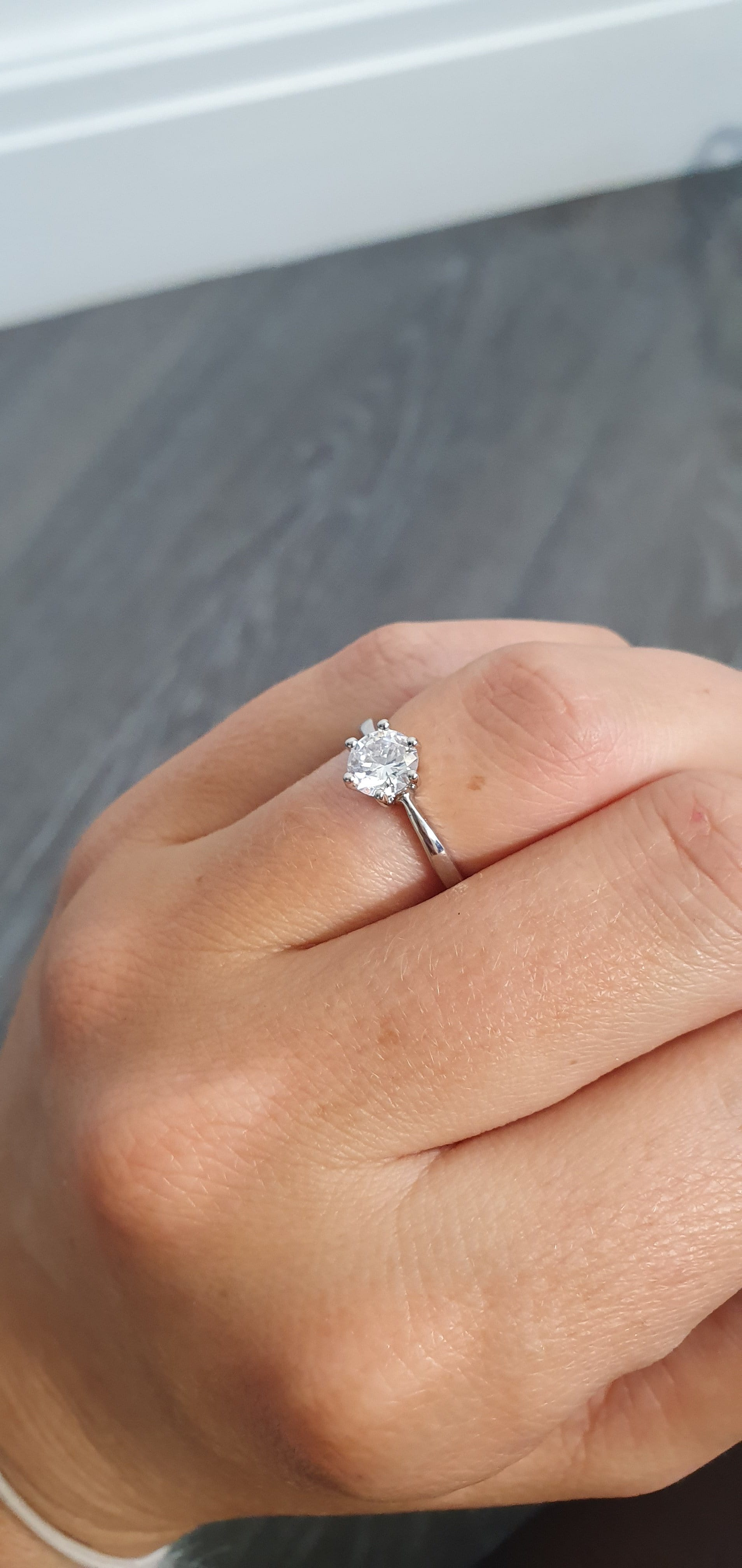 The Solitaire Diamante ring