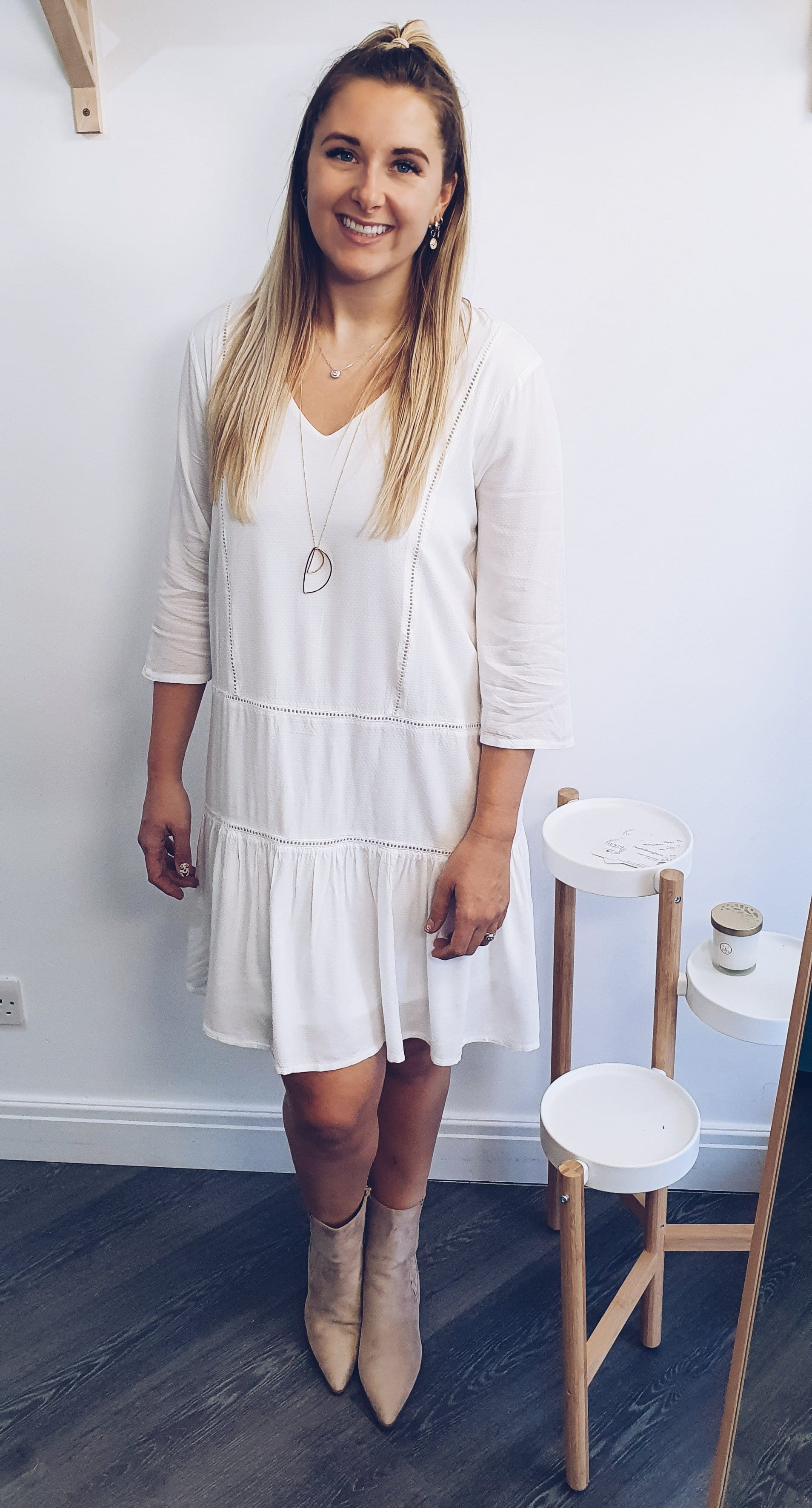 The ichi white sundress