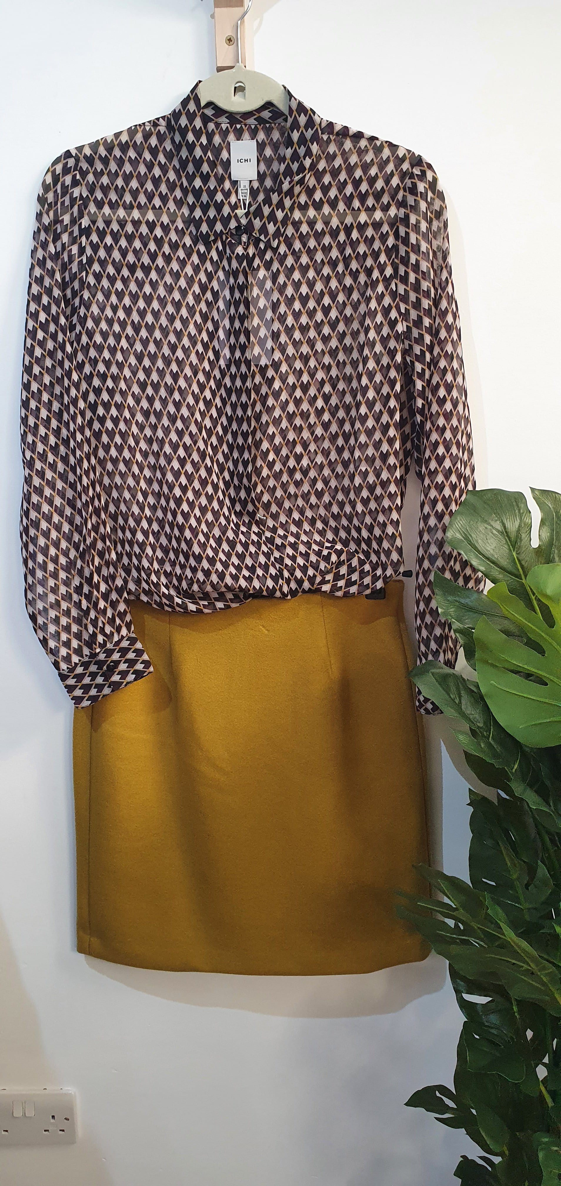 Geo heart blouse