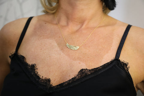 Lisa Angel gold wing necklace