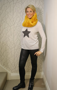 Oatmeal studded star top