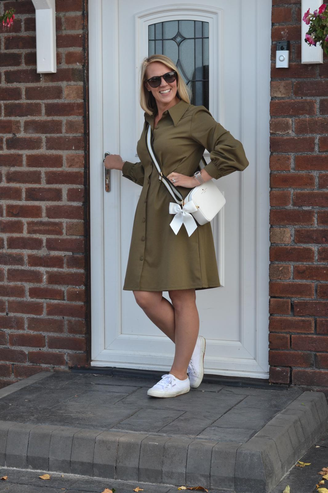 The Kate olive fit dress