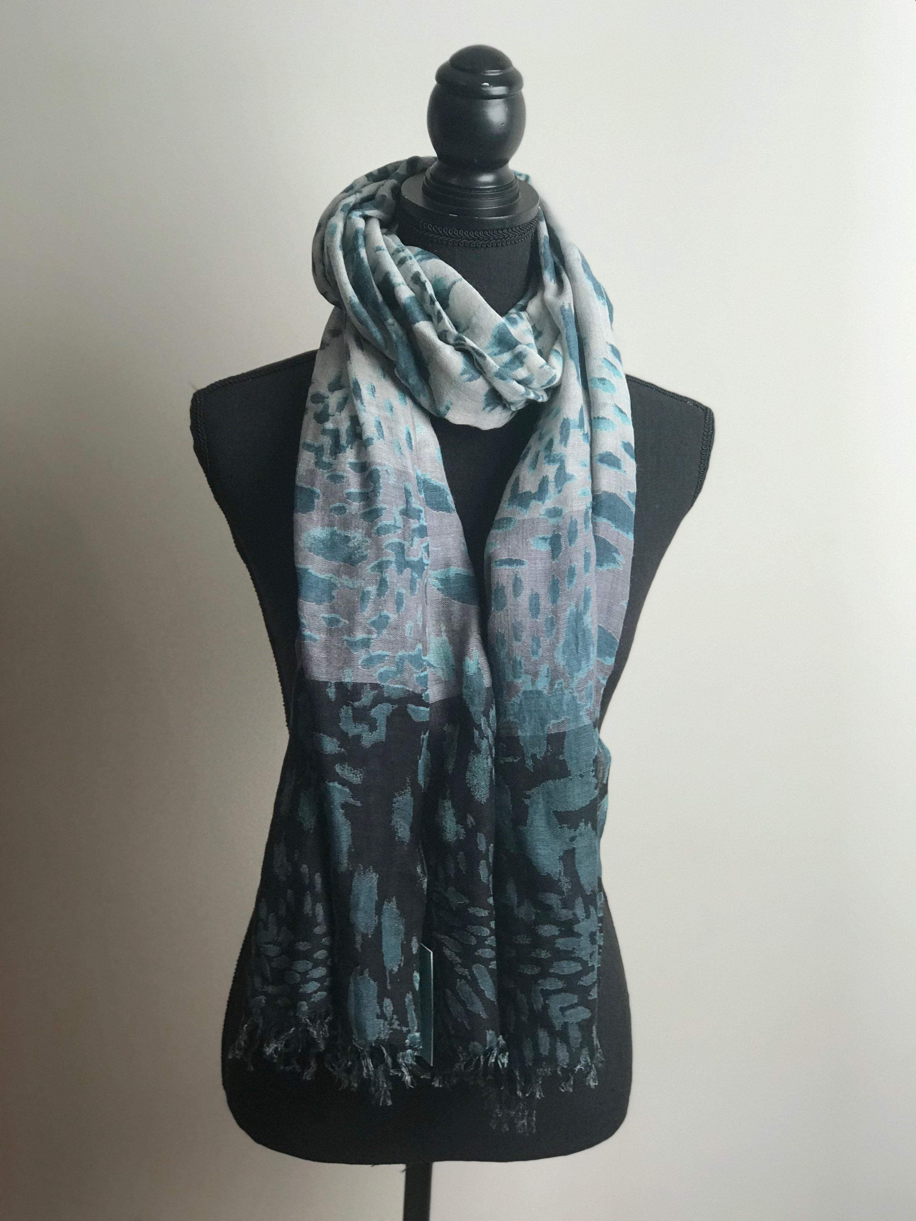 Blue leopard scarf - ivegotnothing2wear