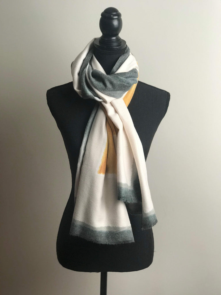 Colour block ombre scarf - ivegotnothing2wear