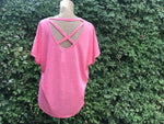 Pink Cross back T-shirt