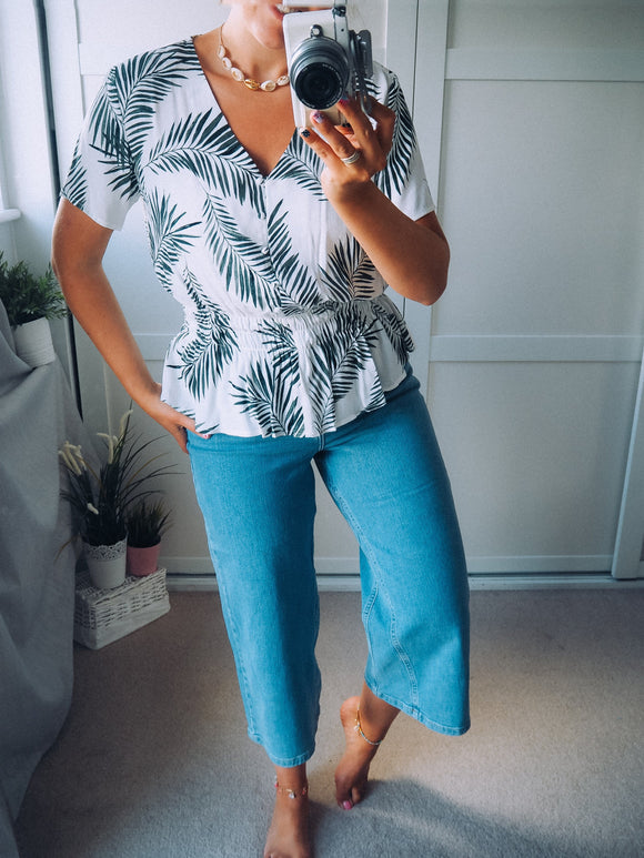 Palm leaf blouse