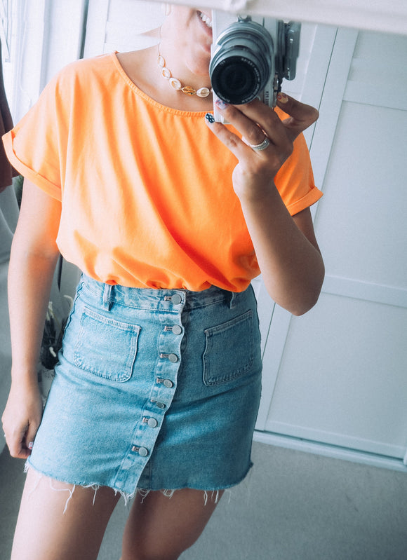 The boxy tee - soft orange