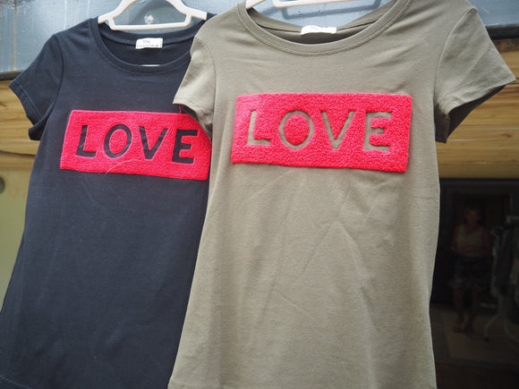 Textured LOVE T-shirt