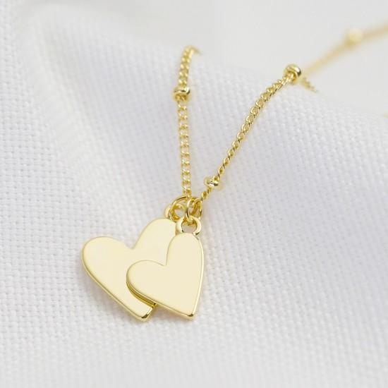 Lisa angel falling double heart necklace