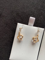 Delicate sparkly drop earrings