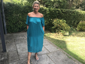 Teal oversized dress
