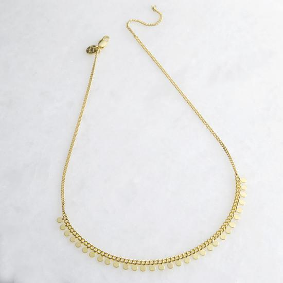 Lisa Angel Gold dotty necklace