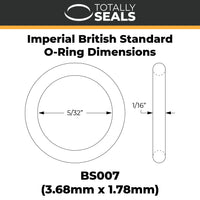 "5/32"" x 1/16"" (BS007) Imperial Nitrile O-Rings - Totally Seals"