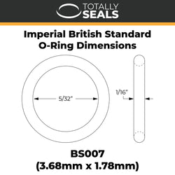 "5/32"" x 1/16"" (BS007) Imperial Nitrile O-Rings"