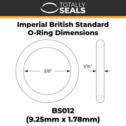 "5/16"" x 1/16"" (BS011) Imperial Nitrile O-Rings"