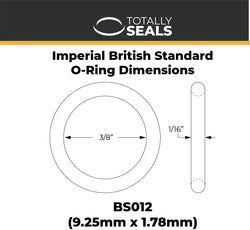 "3/8"" x 1/16"" (BS012) Imperial Nitrile O-Rings"