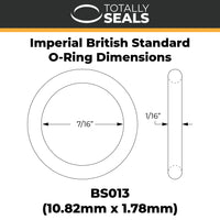 "7/16"" x 1/16"" (BS013) Imperial Nitrile O-Rings - Totally Seals"