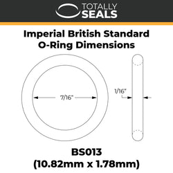 "7/16"" x 1/16"" (BS013) Imperial Nitrile O-Rings"