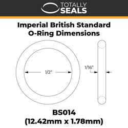 "1/2"" x 1/16"" (BS014) Imperial Nitrile O-Rings"