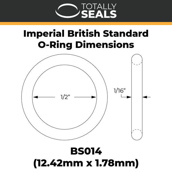 "1/2"" x 1/16"" (BS014) Imperial Nitrile O-Rings - Totally Seals"