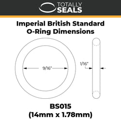 "9/16"" x 1/16"" (BS015) Imperial Nitrile O-Rings"