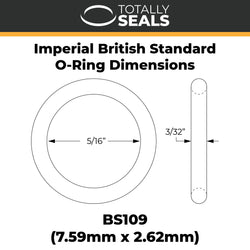 "5/16"" x 3/32"" (BS109) Imperial Nitrile O-Rings"