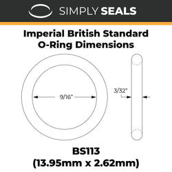 "9/16"" x 3/32"" (BS113) Imperial Nitrile O-Rings"