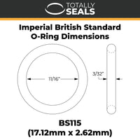 "11/16"" x 3/32"" (BS115) Imperial Nitrile O-Rings - Totally Seals"
