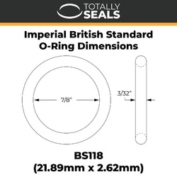 "7/8"" x 3/32"" (BS118) Imperial Nitrile O-Rings"
