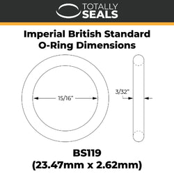"15/16"" x 3/32"" (BS119) Imperial Nitrile O-Rings"