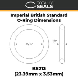 "15/16"" x 1/8"" (BS213) Imperial Nitrile O-Rings"
