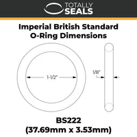 "1 1/2"" x 1/8"" (BS222) Imperial Nitrile Rubber O-Rings - Totally Seals"