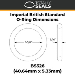 "1-5/8"" x 3/16"" (BS326) Imperial Nitrile O-Rings"