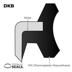 50mm x 60mm x 7/10mm - DKB Dust / Wiper Seal