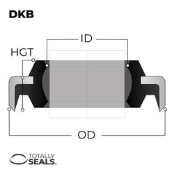 20mm x 32mm x 6/9mm - DKB Dust / Wiper Seal