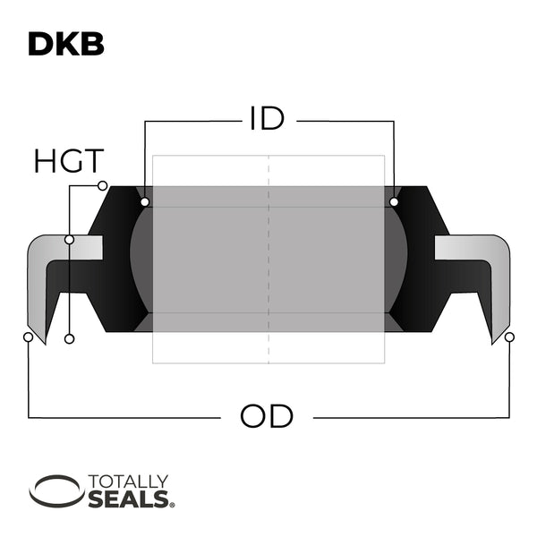 35mm x 47mm x 7/10mm - DKB Dust / Wiper Seal - Totally Seals®