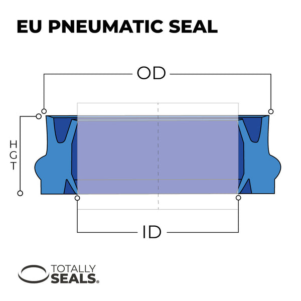 12mm x 22mm x 10.7mm - EU Pneumatic Seal - Totally Seals