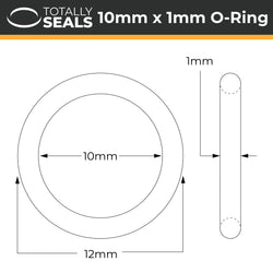 10mm x 1mm (12mm OD) Nitrile O-Rings
