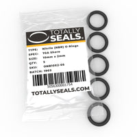 10mm x 2mm (14mm OD) Nitrile O-Rings - Totally Seals®
