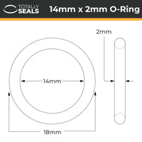 14mm x 2mm (18mm OD) Nitrile O-Rings - Totally Seals®