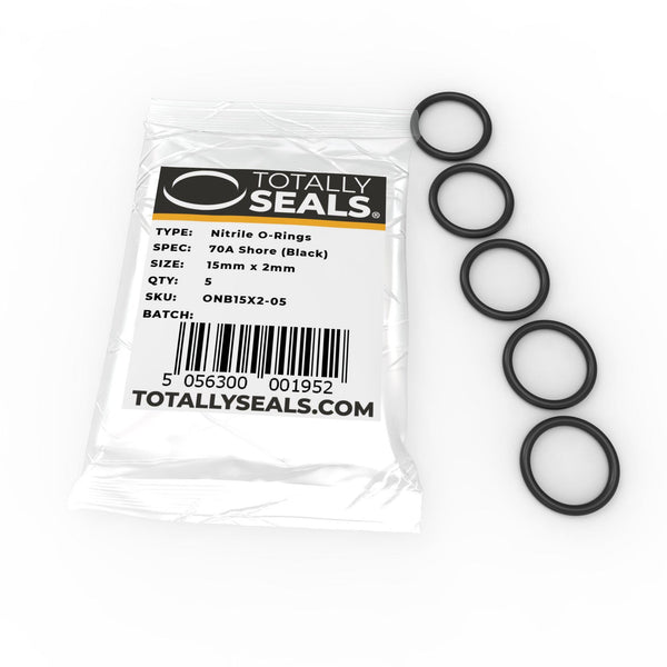 15mm x 2mm (19mm OD) Nitrile O-Rings - Totally Seals
