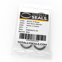 16mm x 2.5mm (21mm OD) Nitrile O-Rings - Totally Seals