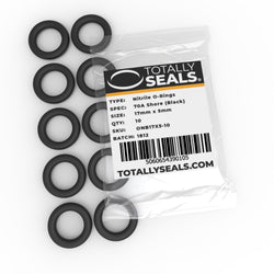 17mm x 5mm (27mm OD) Nitrile O-Rings