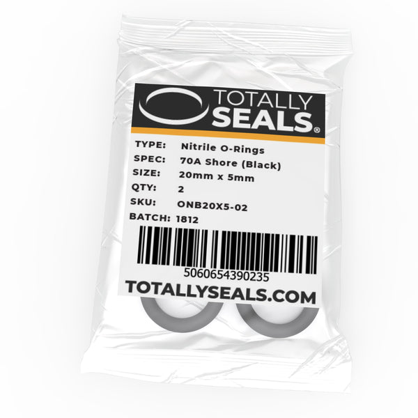 20mm x 5mm (30mm OD) Nitrile O-Rings - Totally Seals
