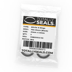 21mm x 3.5mm (28mm OD) Nitrile O-Rings